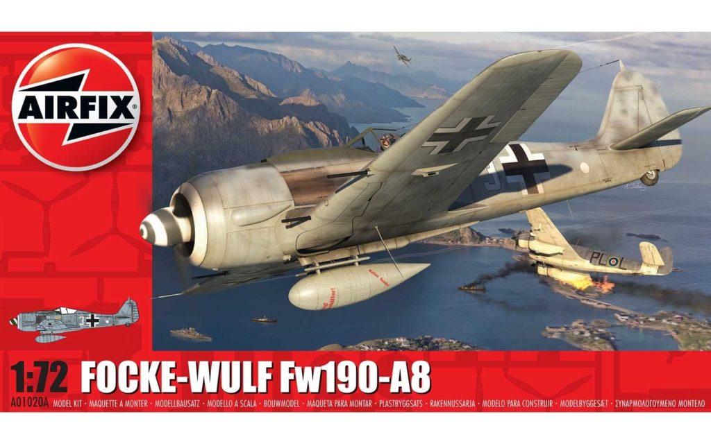 AIRFIX Focke-Wulf Fw190A-8 1:72 01020A Plastic Model Kit