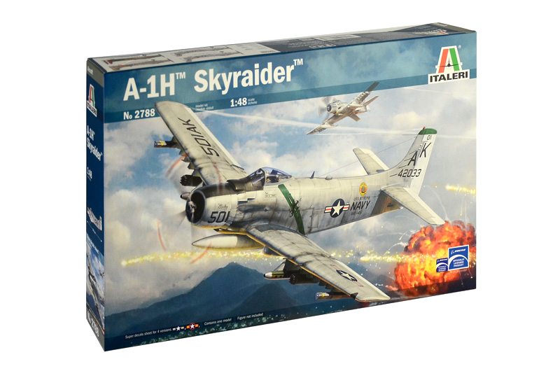 A-1H SKYRAIDER 1/48 ITALERI Plastic Model Kit (2788)