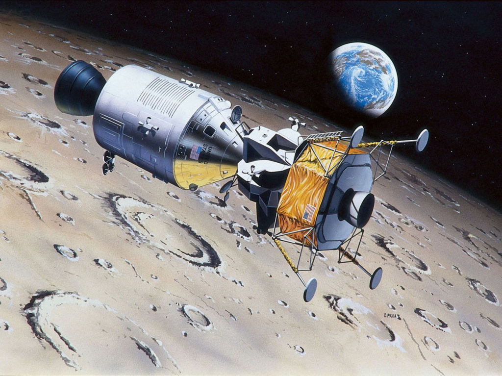 REVELL Apollo 11 Columbia & Eagle Scale: 1:96 Plastic Model Kit 03700