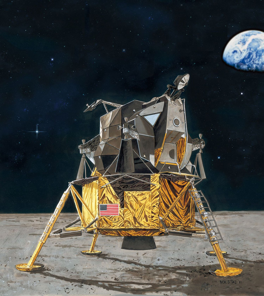 REVELL Apollo 11 Lunar Module Eagle Plastic Model Kit Scale 1:48 03701