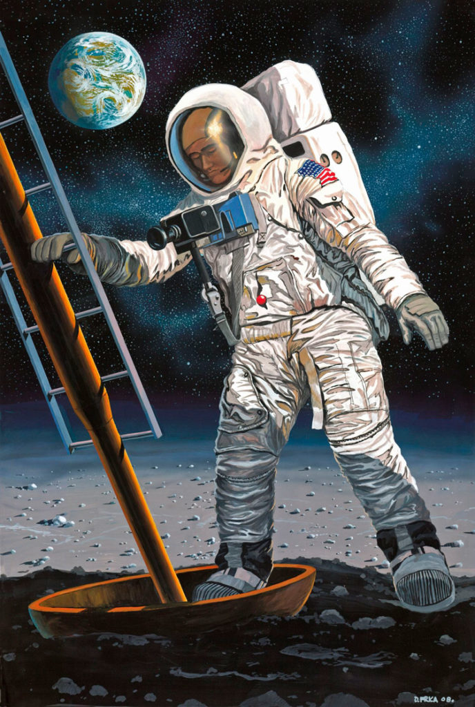 REVELL Apollo 11 Astronaut on the Moon Scale: 1:8 Plastic Model Kit 03702