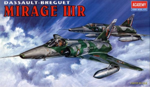 ACADEMY 1/48 MIRAGE IIIR FIGHTER PLASTIC MODEL KIT 12248